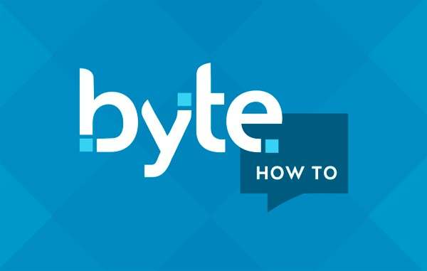Image with Byte's wordmark and the words how to, in a speech box