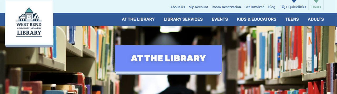 header from at the library page